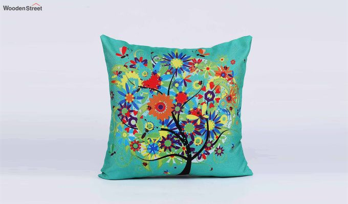 Abstract Multicolour Jute Cushion Covers (Set of 5)-5