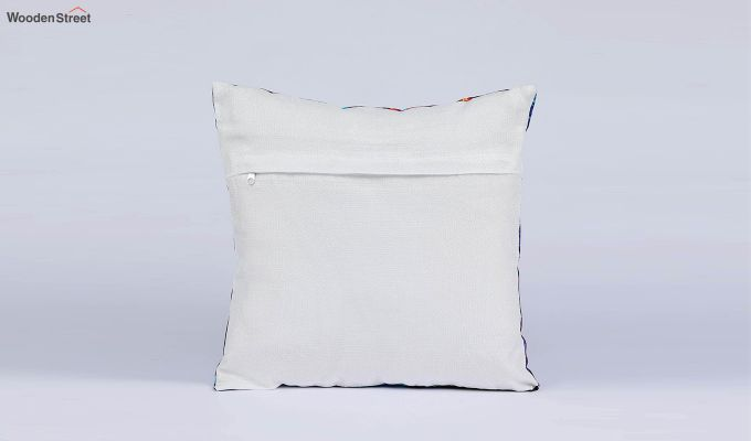 Abstract Pattern Jute Blue Cushion Covers (Set of 5)-5