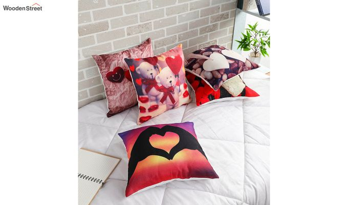 Abstract Special Pattern Jute Cushion Covers (Set of 5)-1