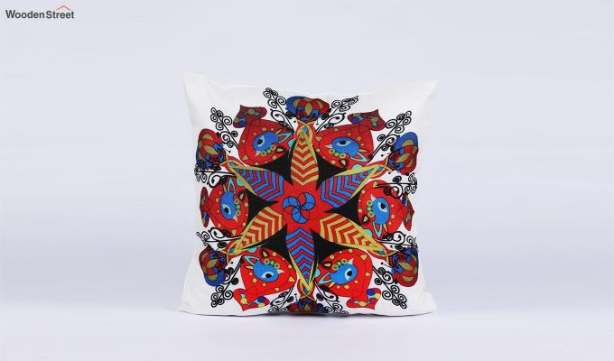 Abstract Vibrant Pattern Jute Cushion Covers (Set of 5)-4