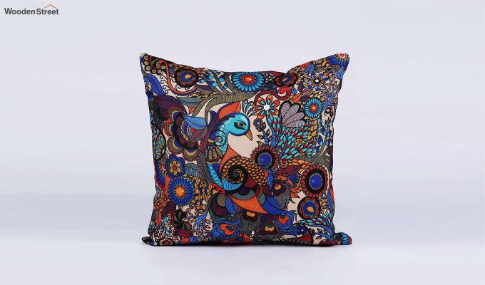 Abstract Vibrant Pattern Jute Cushion Covers (Set of 5)-8