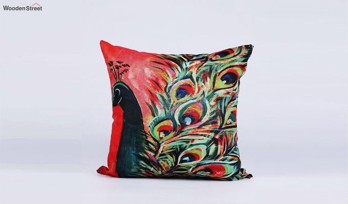 Abstract Vibrant Pattern Jute Cushion Covers (Set of 5)-7