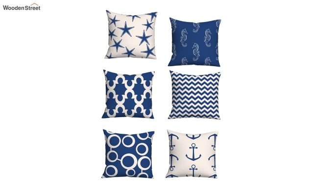 Anchor Blue Cushion Covers (Set of 6)-2