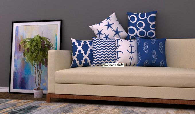Anchor Blue Cushion Covers (Set of 6)-1