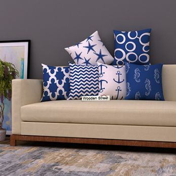 Anchor Blue Cushion Covers (Set of 6)