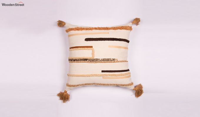 Arabia Gold Embroidered Cushion Cover-1