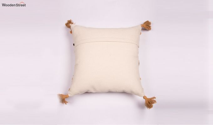 Arabia Gold Embroidered Cushion Cover-2