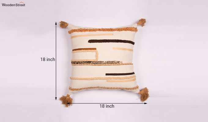Arabia Gold Embroidered Cushion Cover-3