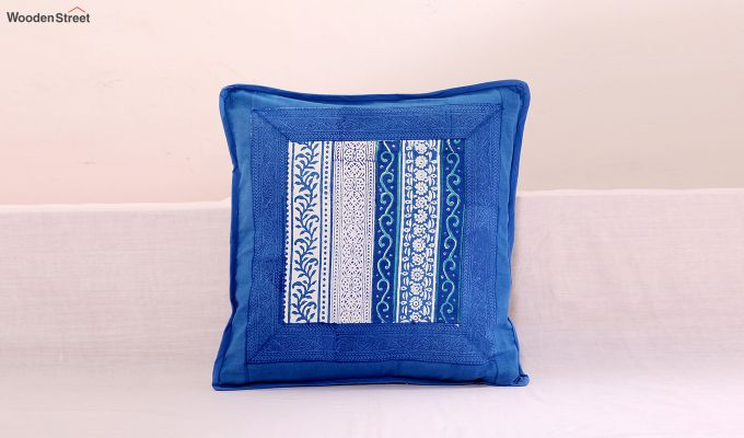 Blossoming Blue Cushion Cover (Set Of 4)-2