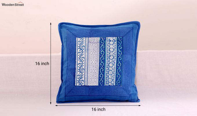 Blossoming Blue Cushion Cover (Set Of 4)-5