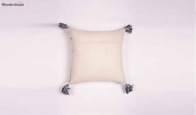 Blue Palace Embroidered Cushion Cover-2