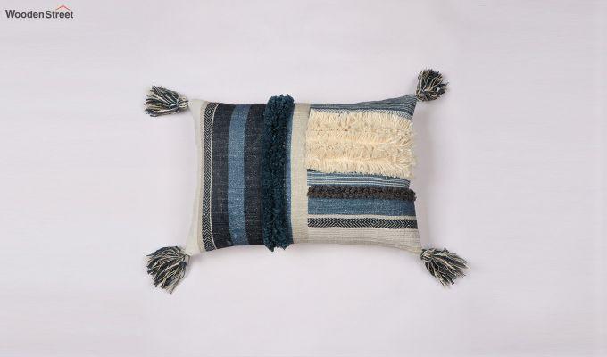 Blue Shell Digital Print Cushion Cover-2