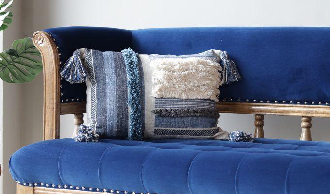 Blue Shell Digital Print Cushion Cover-1