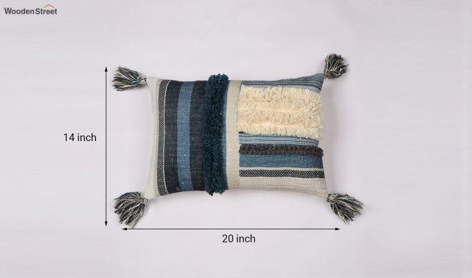 Blue Shell Digital Print Cushion Cover-4
