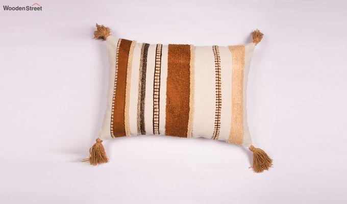 Carmela Gold Embroidered Cushion Cover-1