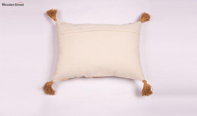 Carmela Gold Embroidered Cushion Cover-2