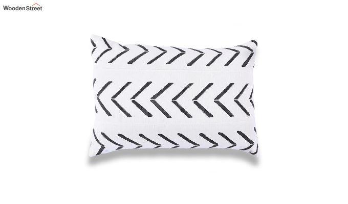 Charcoal Arrow Mud Printing Cushion Cover-2