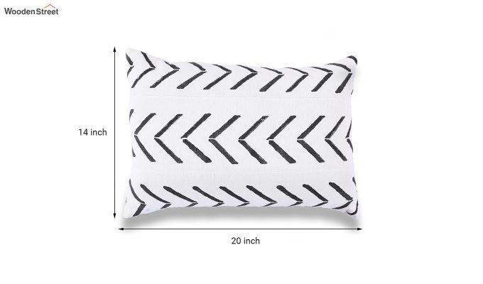 Charcoal Arrow Mud Printing Cushion Cover-5