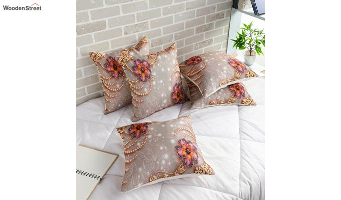 Classy Pattern Jute Cushion Covers (Set of 5)-1