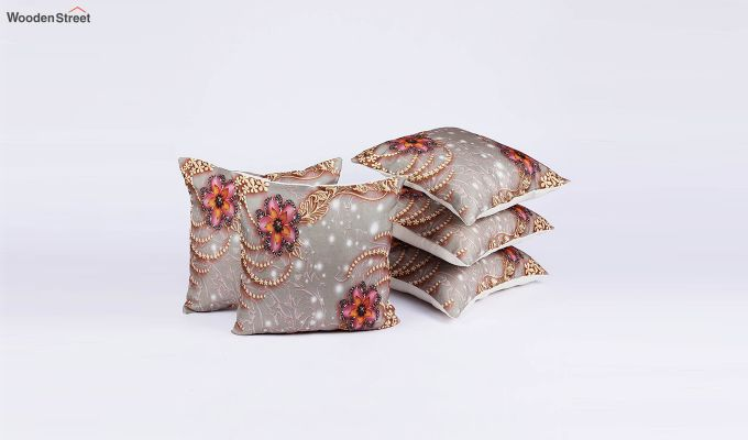 Classy Pattern Jute Cushion Covers (Set of 5)-2