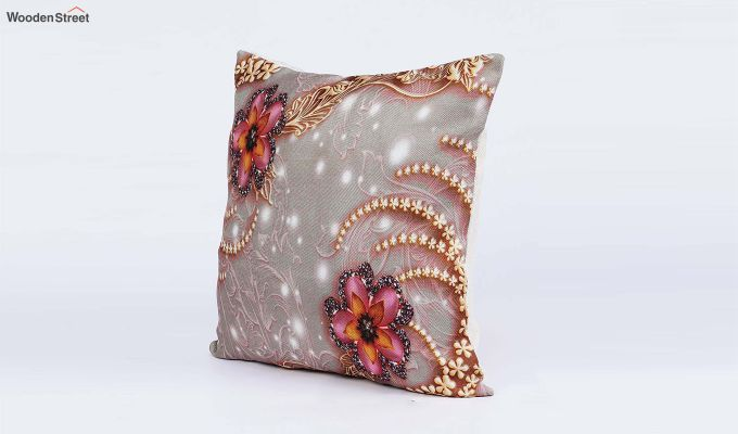 Classy Pattern Jute Cushion Covers (Set of 5)-3