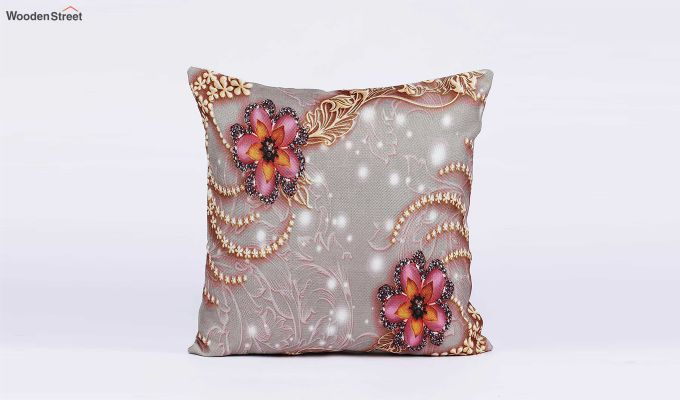 Classy Pattern Jute Cushion Covers (Set of 5)-4