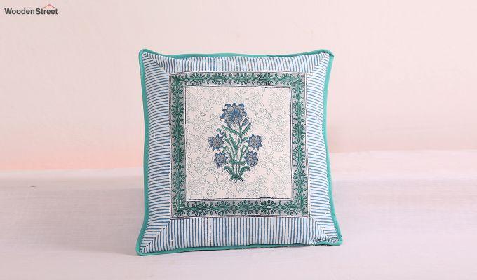 Daffodil Blue Cushion Cover (Set Of 4)-2