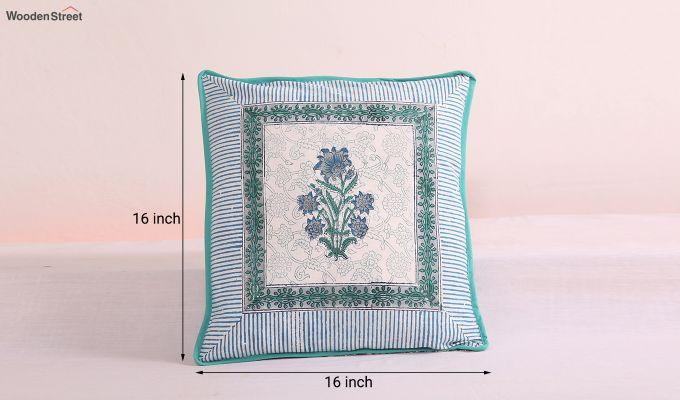 Daffodil Blue Cushion Cover (Set Of 4)-6