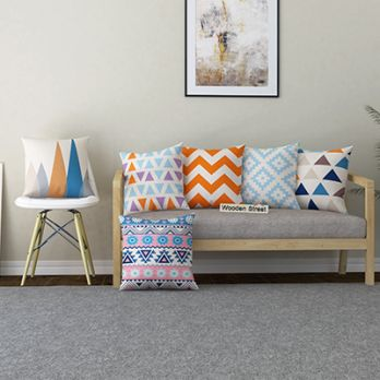 Geometry Bliss Cushion Covers (Set of )