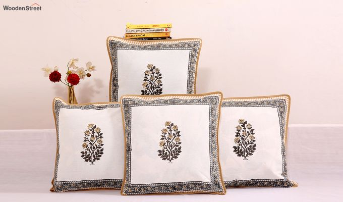Golden Stalks Cushion Covers (Set of 4)-1