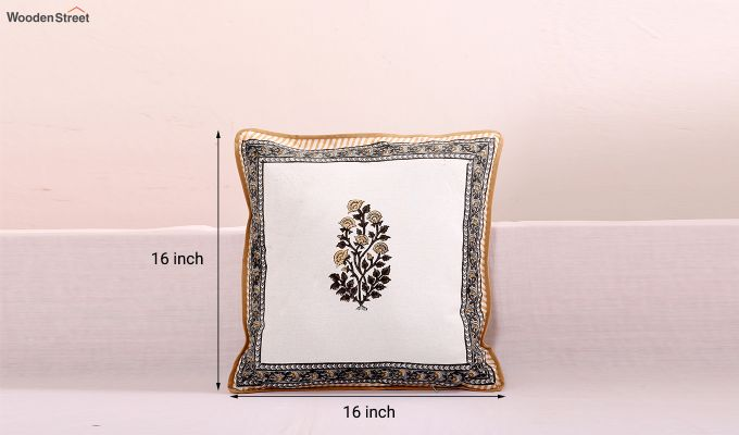 Golden Stalks Cushion Covers (Set of 4)-5