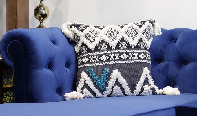 Royal Greek Cushion Covers - Set of 3-2