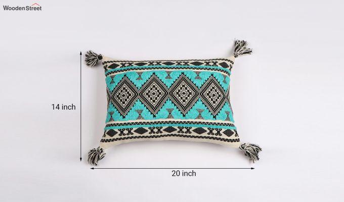 Greek Sky Jacquard Cushion Cover-3