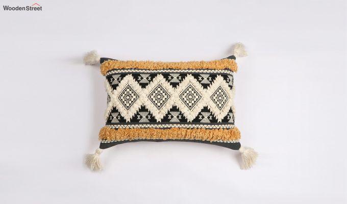 Greek Tiles Jacquard Cushion Cover-1