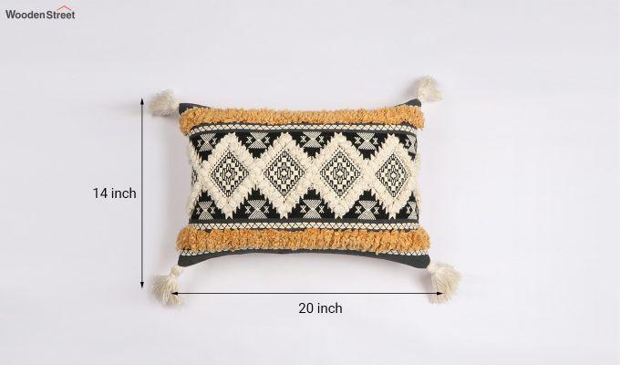 Greek Tiles Jacquard Cushion Cover-4