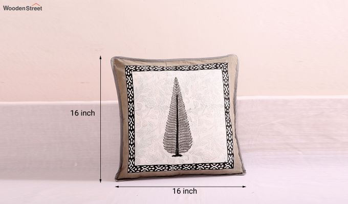 Grey Spruce Cushion Cover (Set Of 4)-5