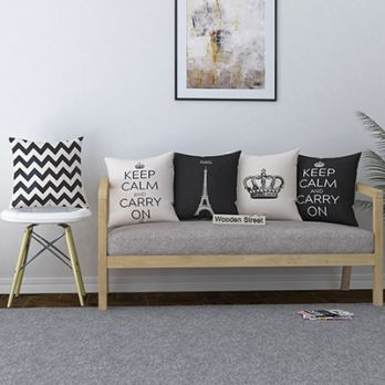 Greyscale Calm Cushion Covers (Set of 5)