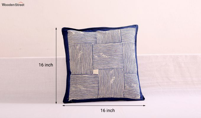 Indigo Haze Cushion Cover (Set Of 4)-5