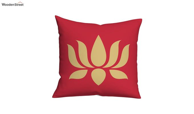 Lotus Red Cushions (Set of 5)-5