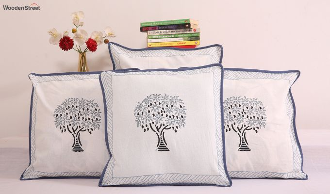 Mango Spruce Cushion Cover (Set Of 4)-1