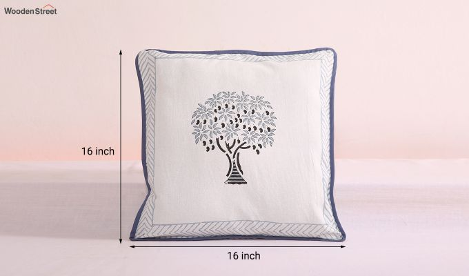 Mango Spruce Cushion Cover (Set Of 4)-6