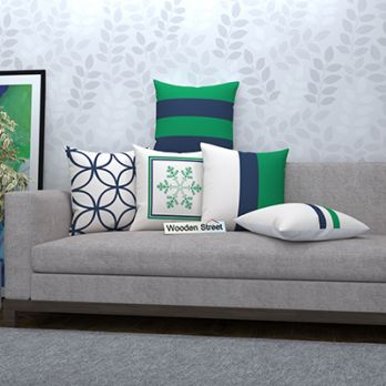 Minty Frost Cushion Covers (Set of 5)