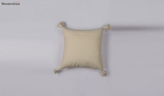 Pearl White Jacquard Cushion Cover-2