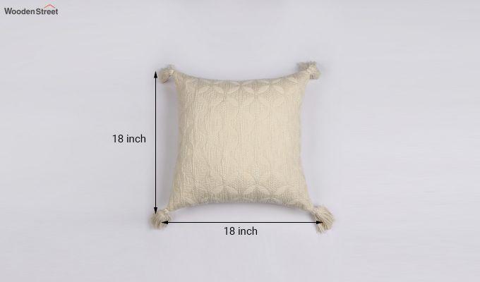 Pearl White Jacquard Cushion Cover-3