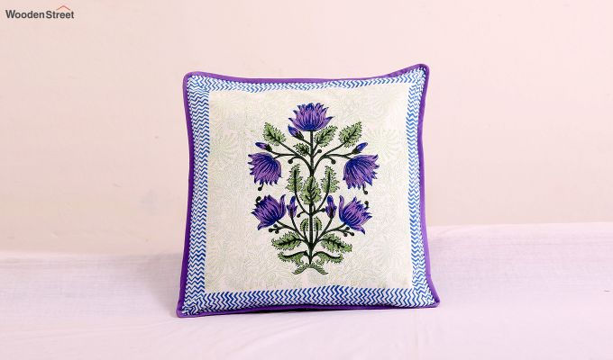 Purple Orient Cushion Cover (Set Of 4)-2