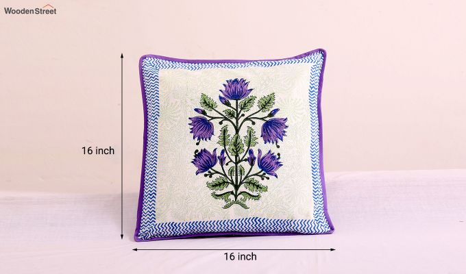 Purple Orient Cushion Cover (Set Of 4)-5