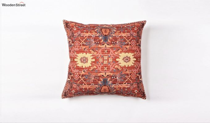 Red Garden Digital Print Cushion Cover-1