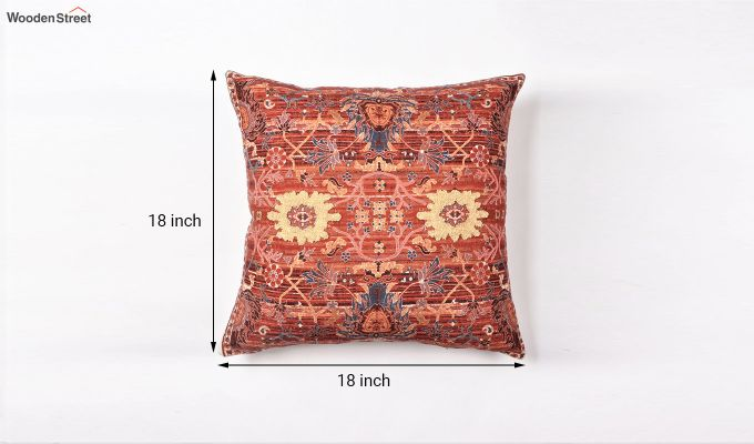 Red Garden Digital Print Cushion Cover-3