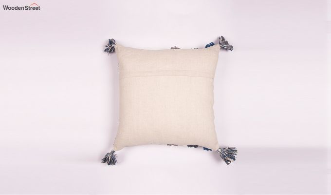 Santos Blue Embroidered Cushion Cover-2