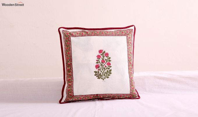 Scarlet Stalks Cushion Covers (Set of 4)-2